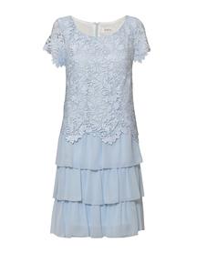 Sukienka błękitna koronkowo-szyfonowa