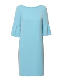 Sukienka z efektownym rękawkiem w kolorze pogodnego turkusu