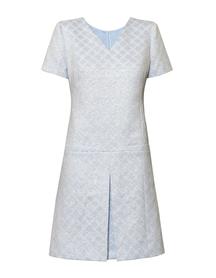 Błękitna sukienka z lekkiego zakardu