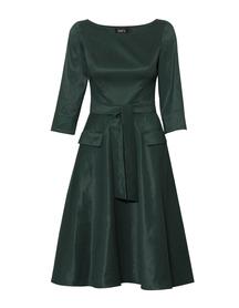 Ciemnozielona sukienka z koła