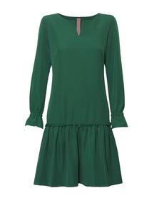 Zielona sukienka z falbanką