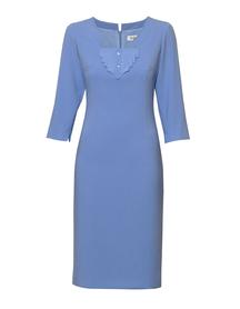 Sukienka  niebieska z żabotem