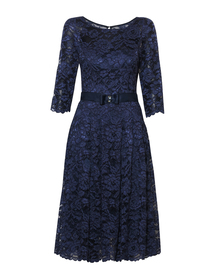 Sukienka z jasno-granatowej koronki