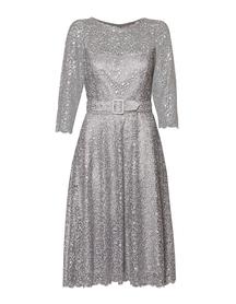 Sukienka wizytowa  szara