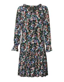 Wiskozowa sukienka - wzór kwiatowy