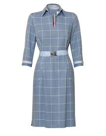Bawełniana sukienka w sportowym stylu szaro-niebieska