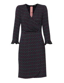 Wiskozowa sukienka kopertowa -wąska