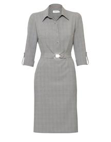 Sukienka polo z szarej krateczki