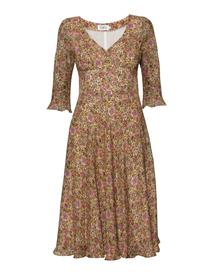 Sukienka z mieszanki wiskozy i jedwabiu