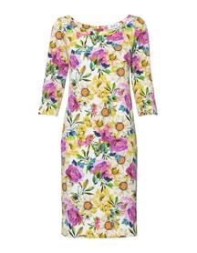 Prosta sukienka w kolorowe kwiaty