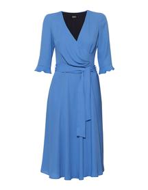 Sukienka kopertowa z  szyfonu