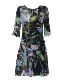 Sukienka z motywem pejzażu - ciemna