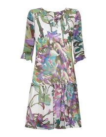 Sukienka z motywem pejzażu - jasna
