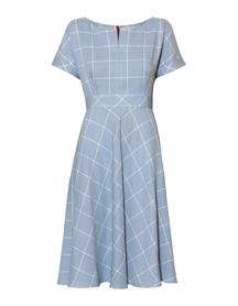 Letnia bawełniana sukienka w delikatną kratę