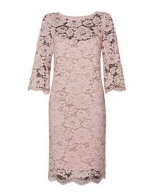 sukienka z koronki w kolorze pudrowego różu
