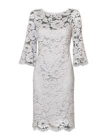 Prosta sukienka z szarej koronki