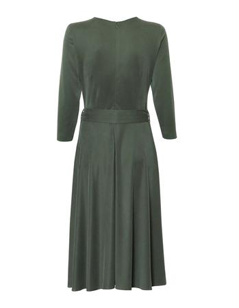 Kopertowa sukienka z modalu w kolorze zielonym (2)