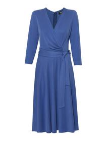 Sukienka kopertowa z modalu- jasny granat