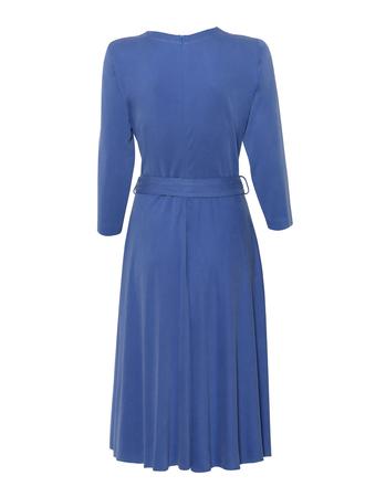 Sukienka kopertowa z modalu- jasny granat (2)