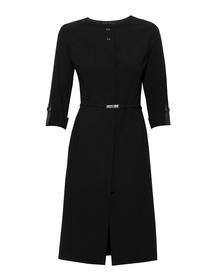 Czarna sukienka z krytym zapięciem