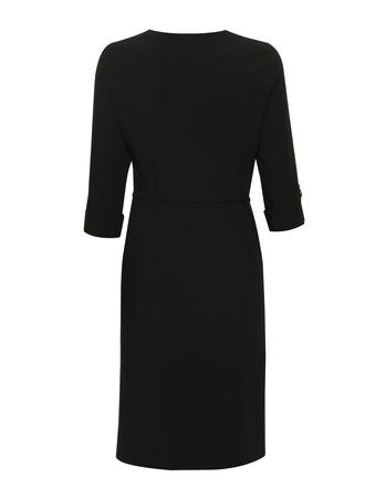 Czarna sukienka z krytym zapięciem (2)