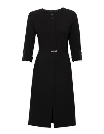 Czarna sukienka z krytym zapięciem (1)