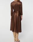 Sukienka z dzianiny z lekkim połyskiem -kolor ciemna wanilia (3)