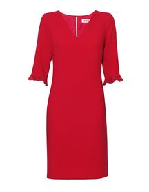 Malinowa klasyczna sukienka