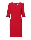 Malinowa klasyczna sukienka (1)
