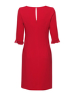 Malinowa klasyczna sukienka (2)
