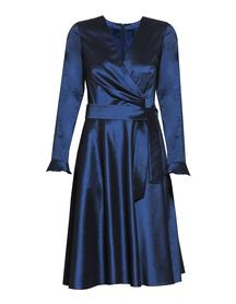 Leciutka sukienka kopertowa  z tafty