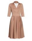 Sukienka z mieszanki bawełny i wiskozy w kolorze kakaowym (1)