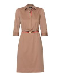 Bawełniano-wiskozowa sukienka z kołnierzykiem
