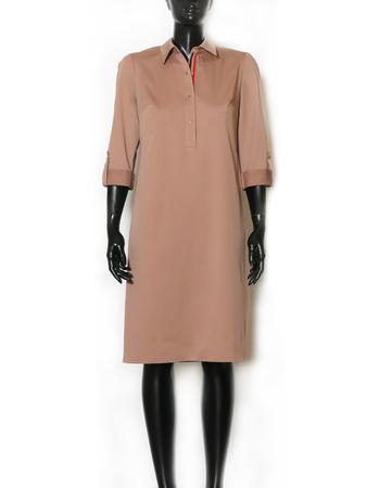 Bawełniano-wiskozowa sukienka z kołnierzykiem (4)