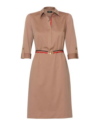 Bawełniano-wiskozowa sukienka z kołnierzykiem (1)