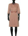 Bawełniano-wiskozowa sukienka z kołnierzykiem (3)