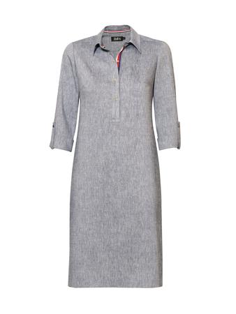 Sukienka z kołnierzykiem z mieszanki lnu. (1)