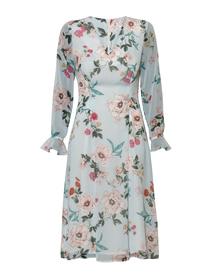 Sukienka z paskiem lub bez paska- niebieska