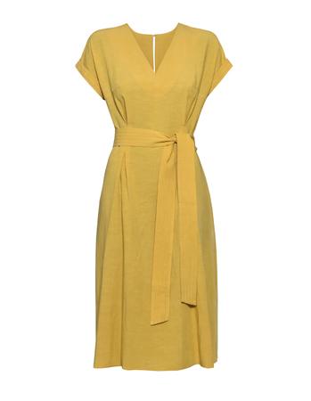 Sukienka z przewiewnej tkaniny - żółta (3)