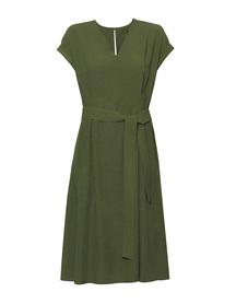 Sukienka z przewiewnej tkaniny - ciemnozielona