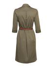 Prosta sukienka z zapięciem polo w kolorze khaki (2)