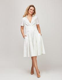 Sukienka z bawełny z listwą