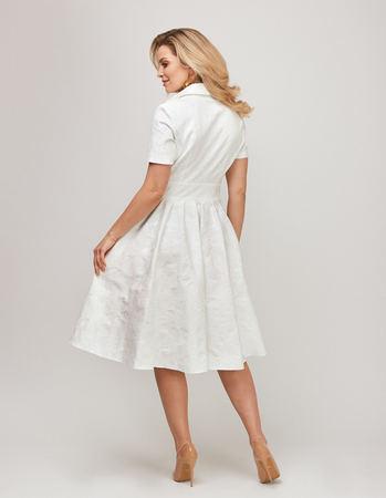 Sukienka z bawełny z listwą (2)