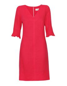 Lniana sukienka malinowa