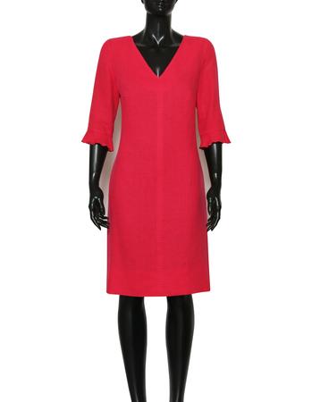 Lniana sukienka malinowa (3)
