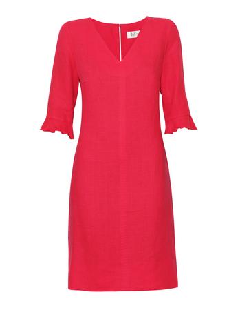 Lniana sukienka malinowa (1)