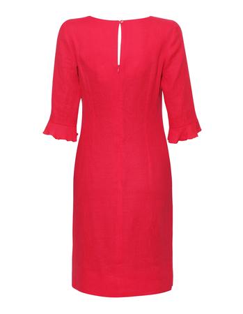 Lniana sukienka malinowa (2)