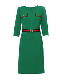 Sukienka z patkami - zielona