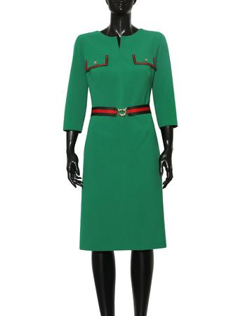 Sukienka z patkami - zielona (3)
