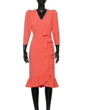 Fantazyjna sukienka koralowa (3)